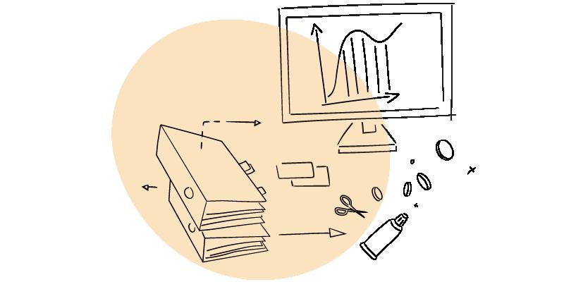 Fotografija laptopa, digitrona, ključeva, markera, lenjira